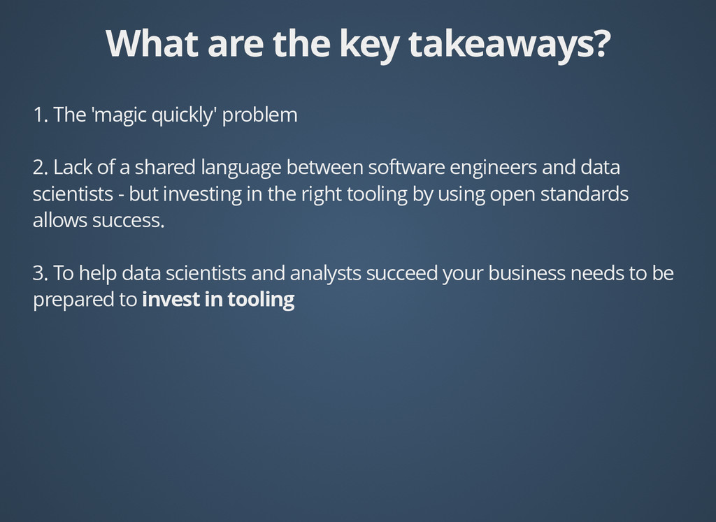 What are the key takeaways? What are the key ta...