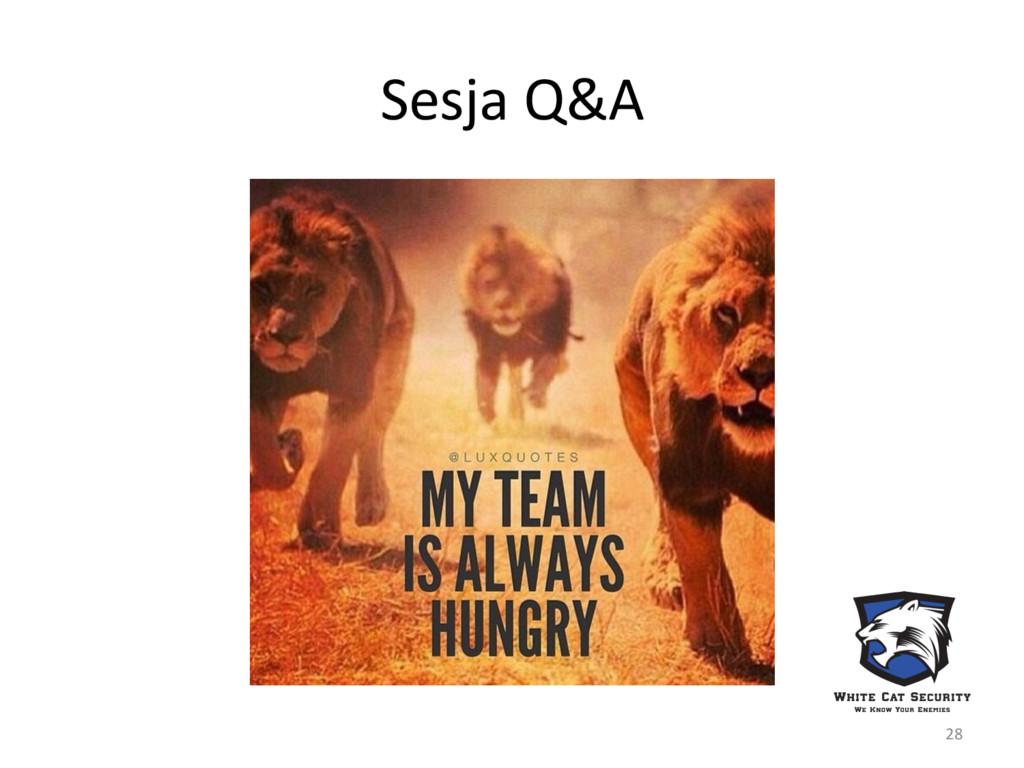 Sesja Q&A 28