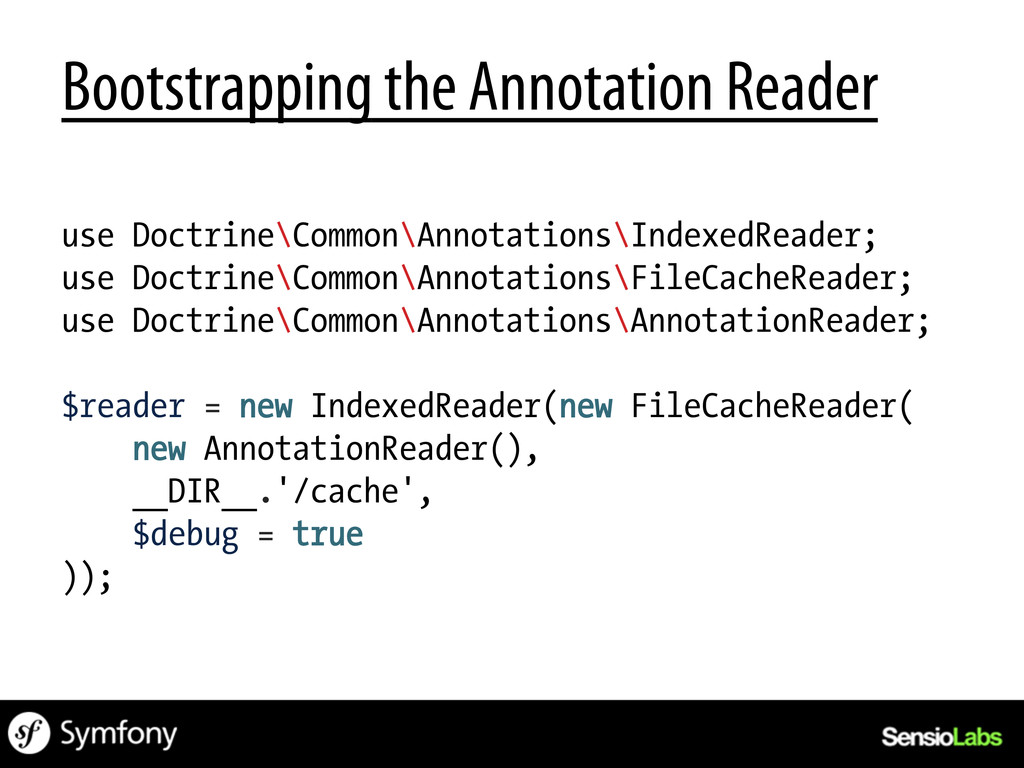 Bootstrapping the Annotation Reader use Doctrin...