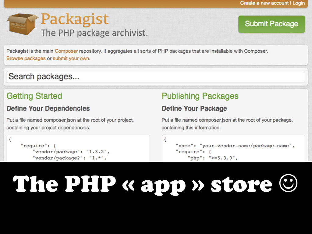 The PHP « app » store J