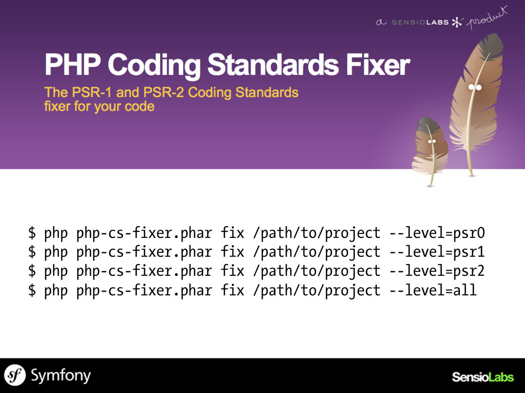 $ php php-cs-fixer.phar fix /path/to/project --...