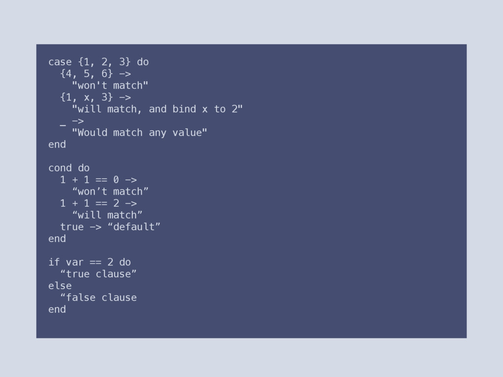 "case {1, 2, 3} do {4, 5, 6} -> ""won't match"" {1..."