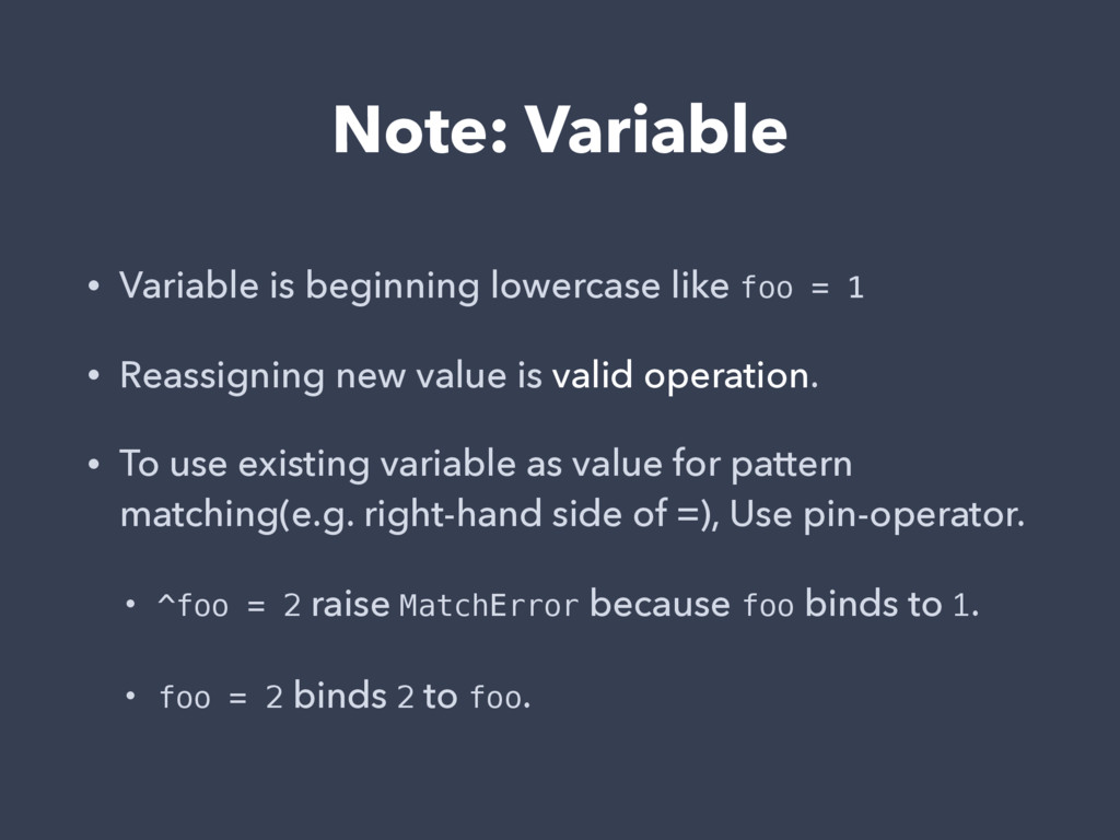 Note: Variable • Variable is beginning lowercas...