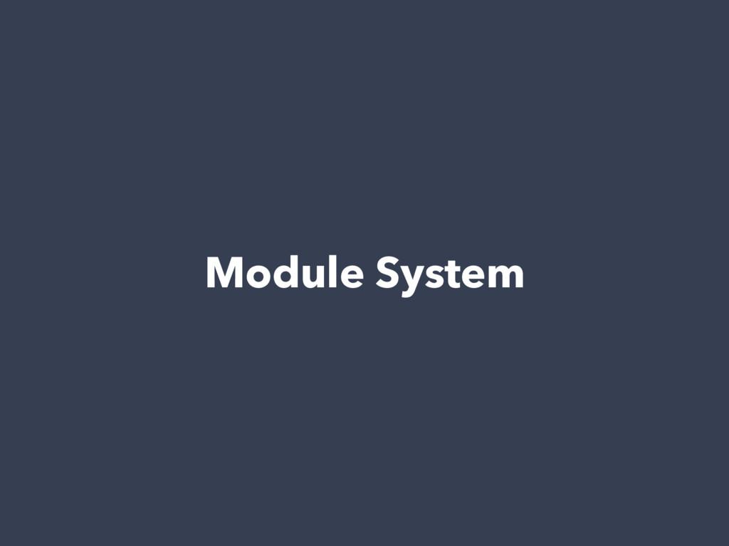 Module System