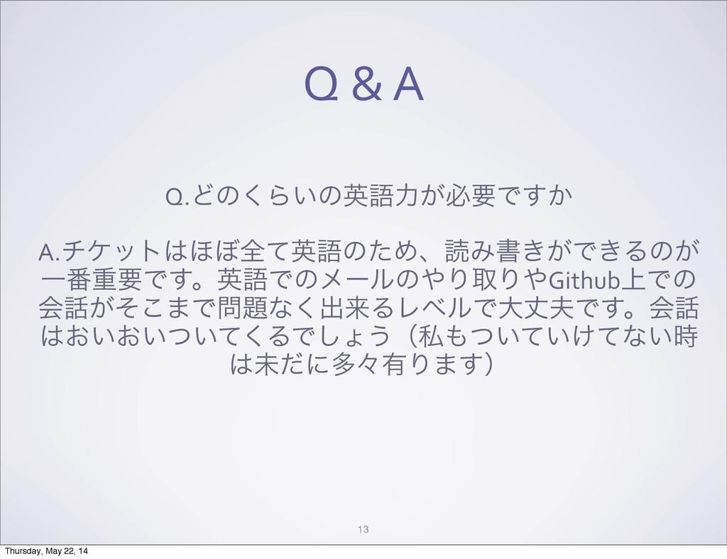 Q & A 13 Q.Ͳͷ͘Β͍ͷӳޠྗ͕ඞཁͰ͔͢ A.νέοτ΄΅શͯӳޠͷ...