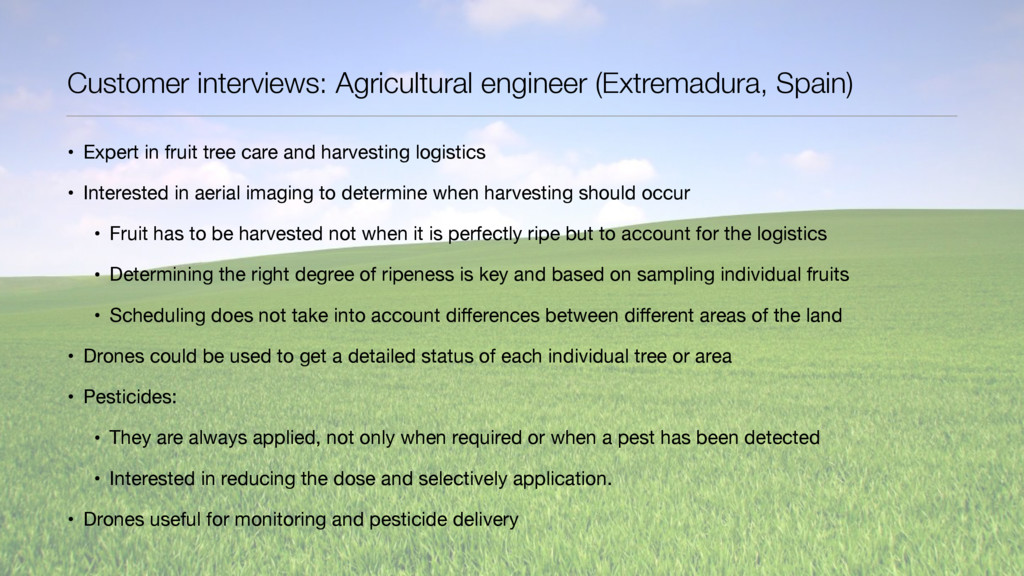 Customer interviews: Agricultural engineer (Ext...