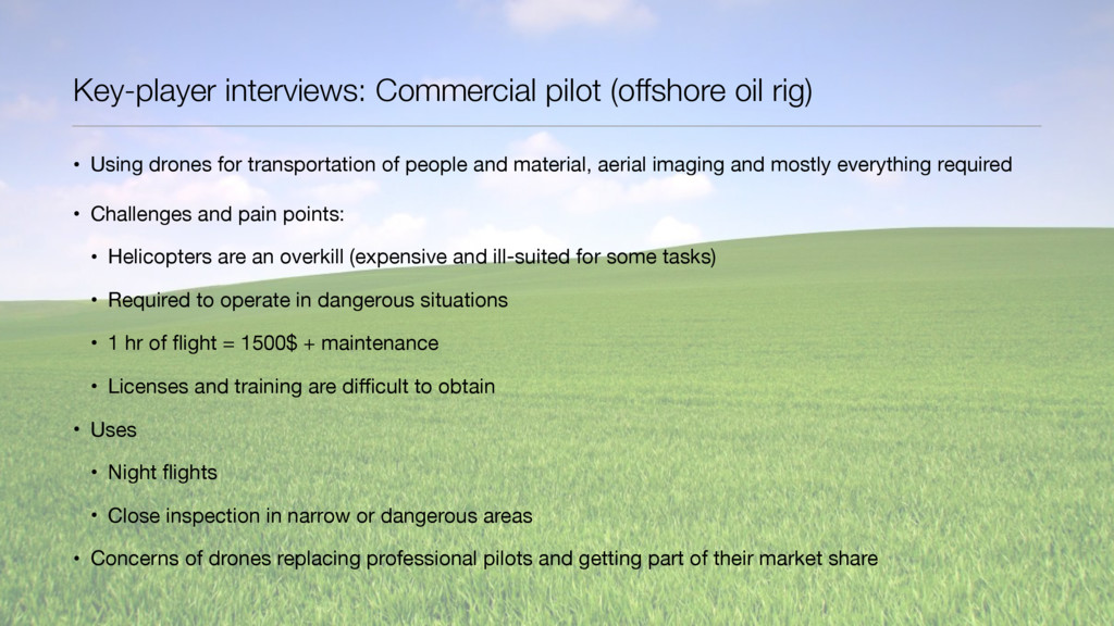 Key-player interviews: Commercial pilot (offsho...