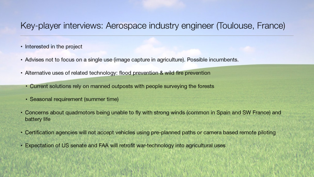 Key-player interviews: Aerospace industry engin...