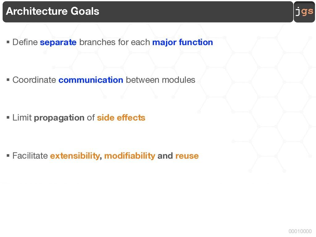 jgs 00010000 Architecture Goals § Define separa...