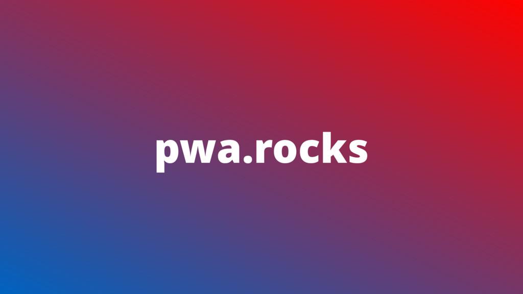pwa.rocks