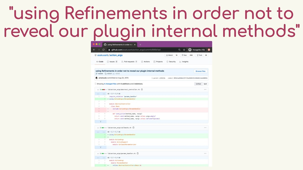 """""""using Refinements in order not to reveal our p..."""
