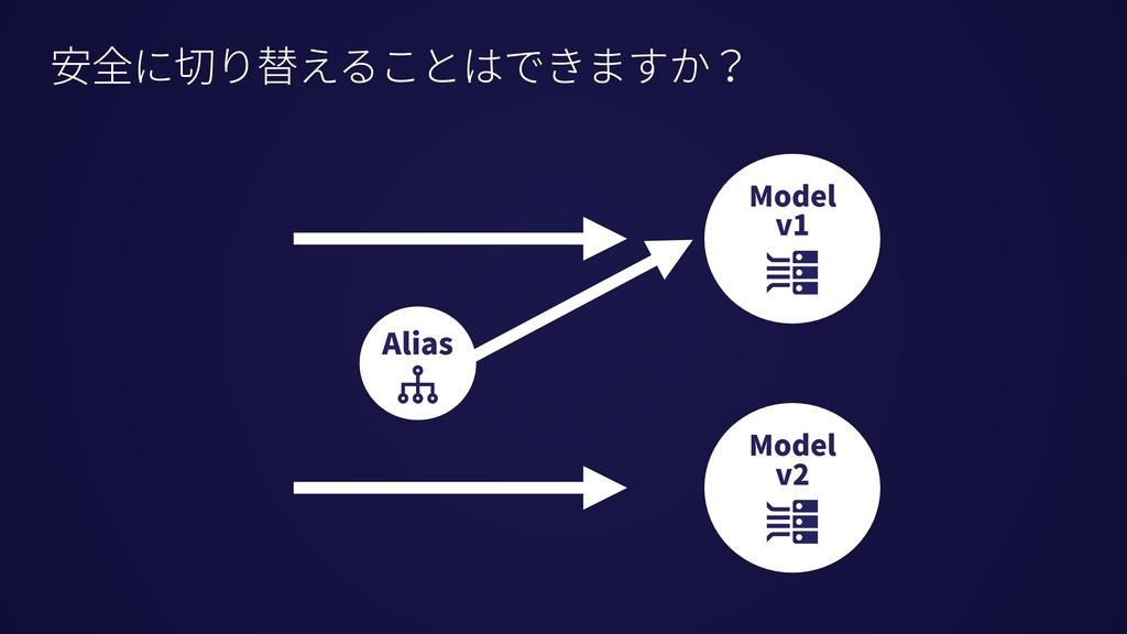 安全に切り替えることはできますか? Alias Model v1 Model v2