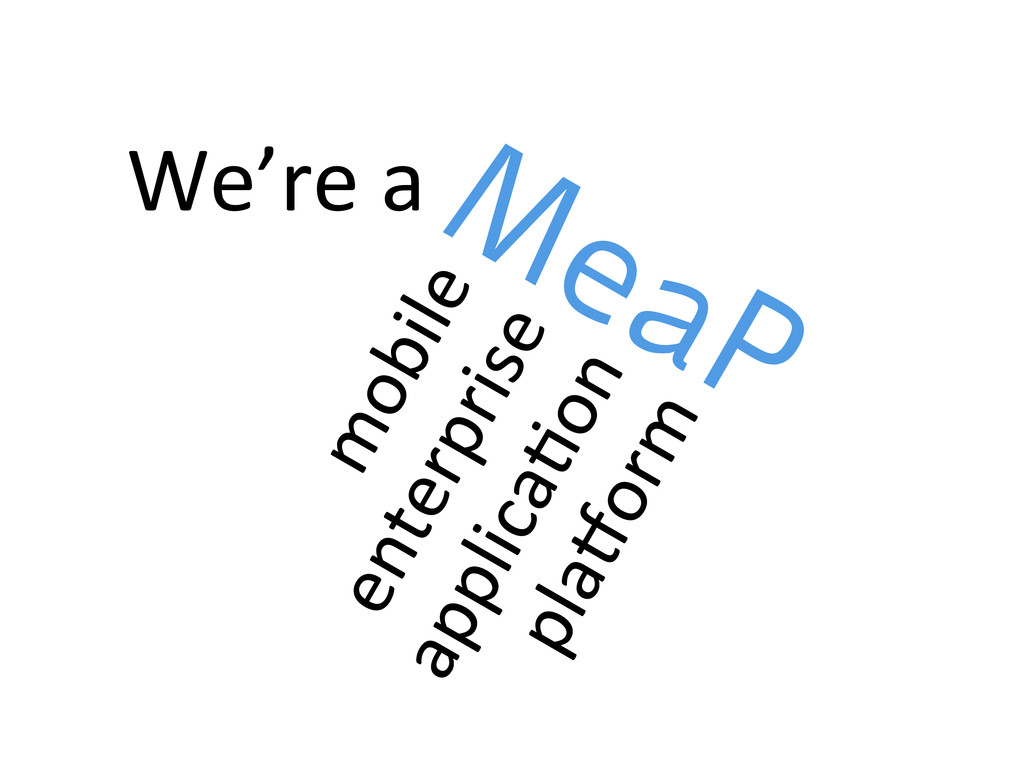 We're a