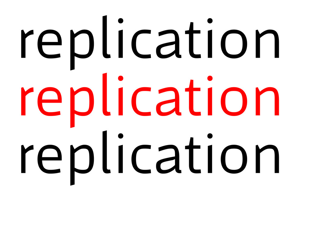 replication replication replication