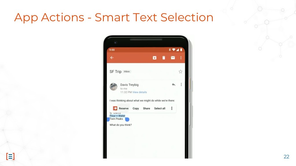App Actions - Smart Text Selection 22