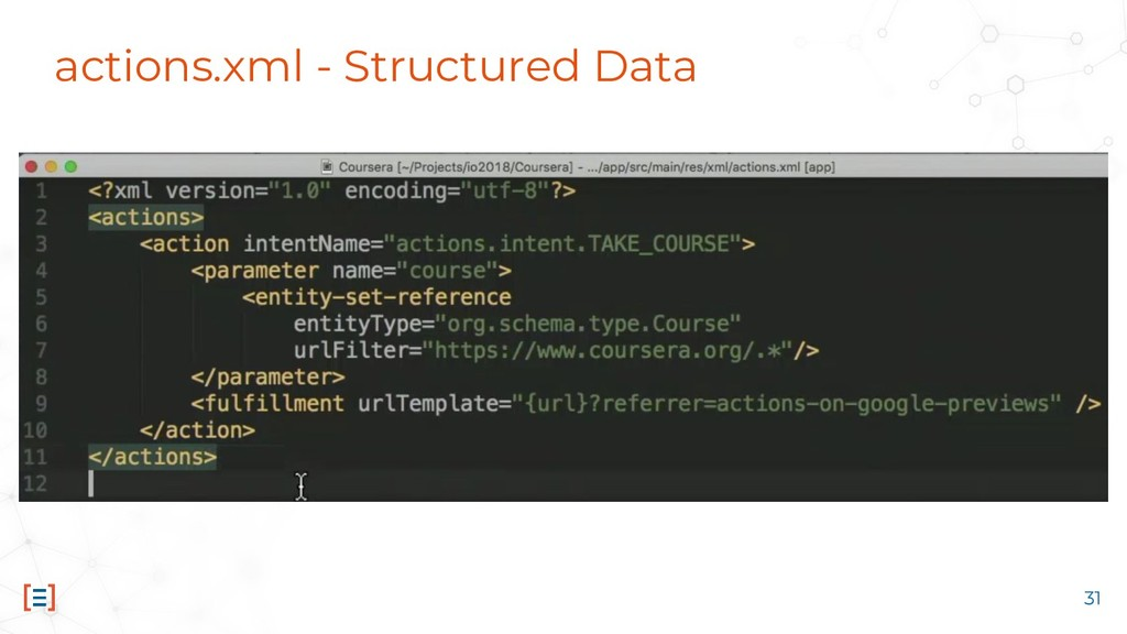 actions.xml - Structured Data 31