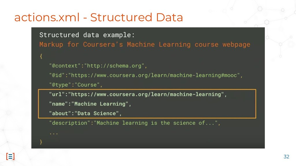 actions.xml - Structured Data 32