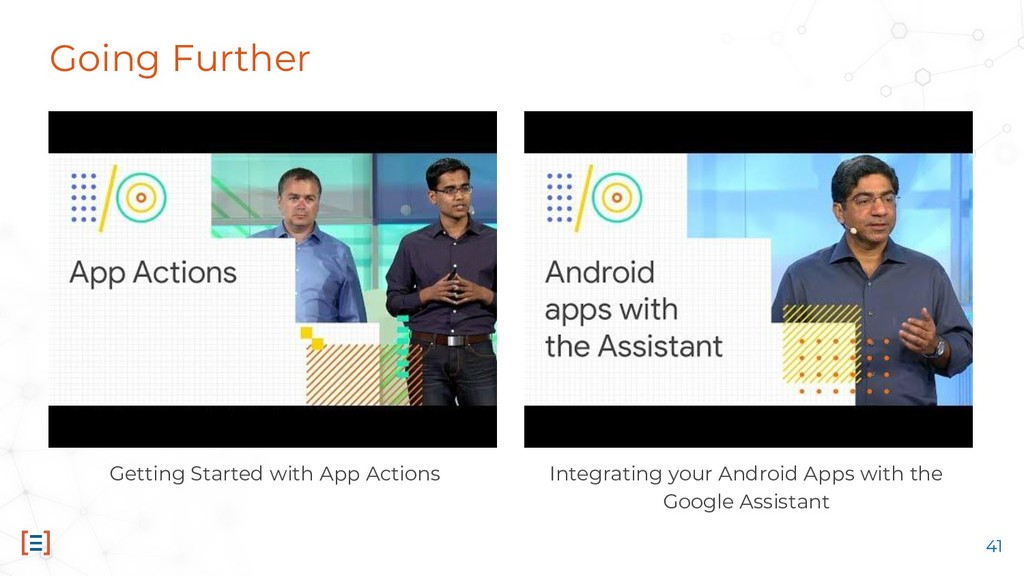 Going Further Integrating your Android Apps wit...