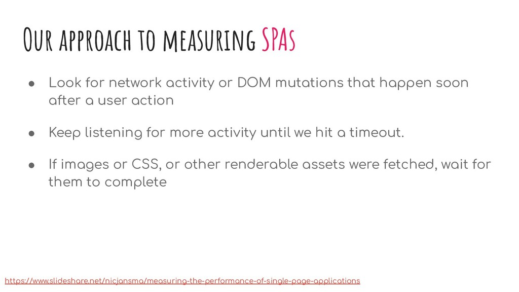 Our approach to measuring SPAs ● Look for netwo...