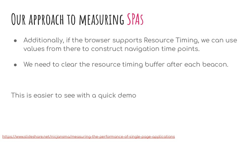 Our approach to measuring SPAs ● Additionally, ...