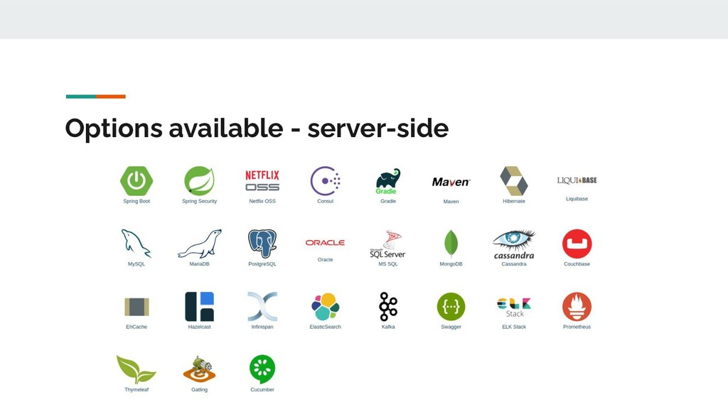 Options available - server-side