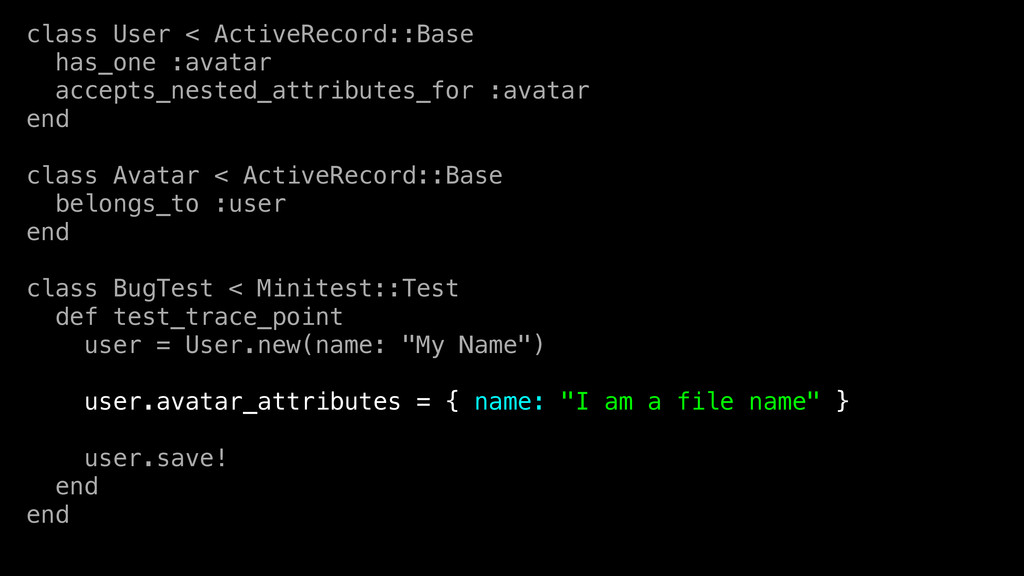 class User < ActiveRecord::Base has_one :avatar...