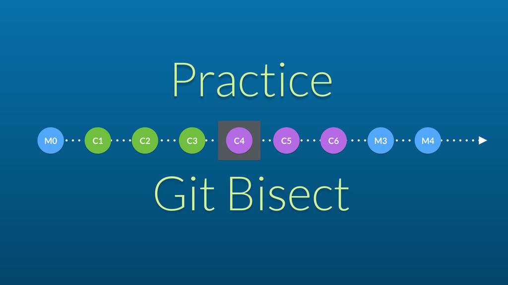 Practice Git Bisect C1 C2 C3 C4 C5 C6 M3 M4 M0