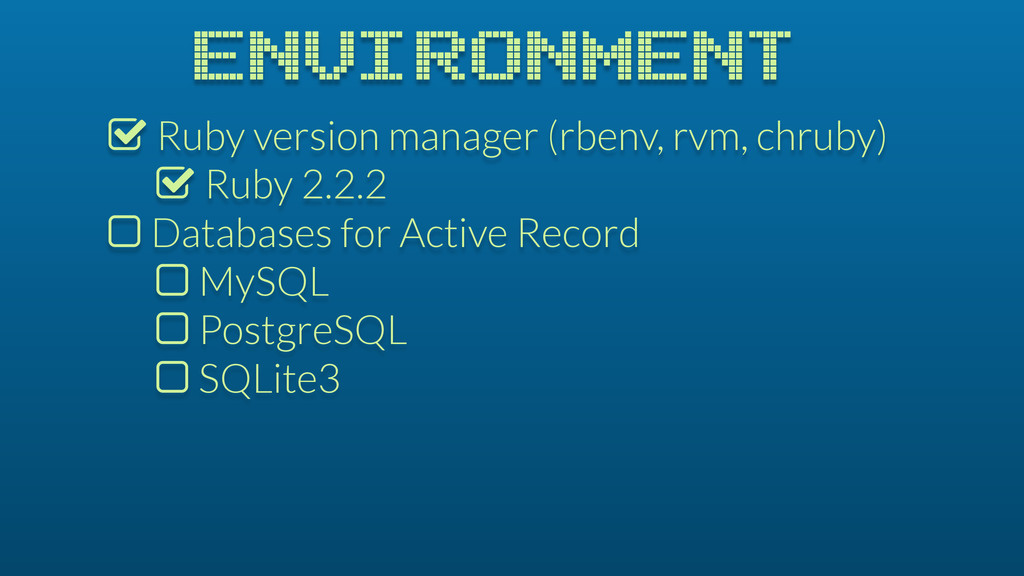 % Ruby version manager (rbenv, rvm, chruby) % R...
