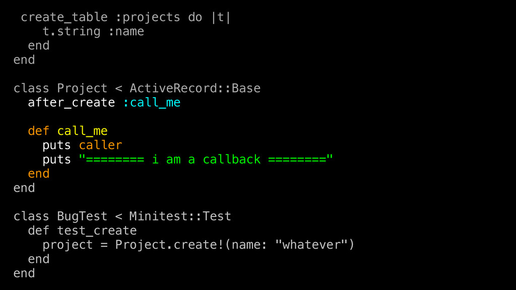 create_table :projects do  t  t.string :name en...