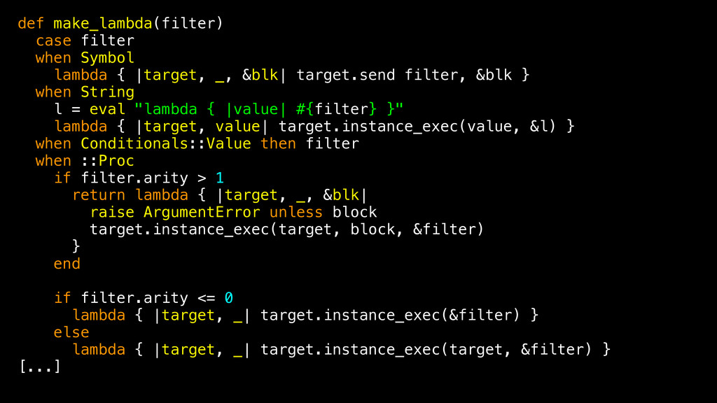 def make_lambda(filter) case filter when Symbol...