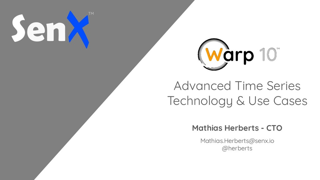 Advanced Time Series Technology & Use Cases Mat...
