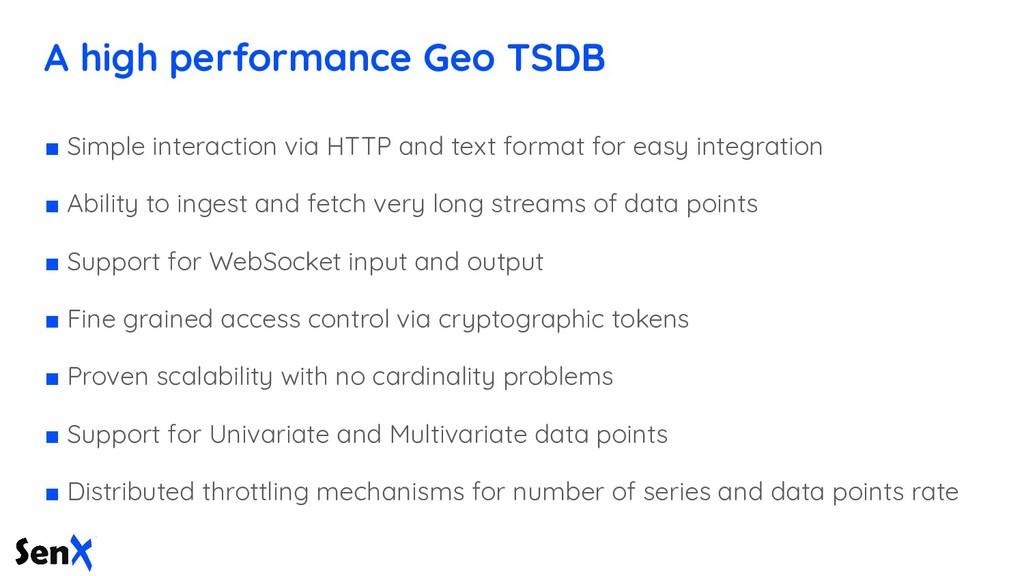 A high performance Geo TSDB ■ Simple interactio...