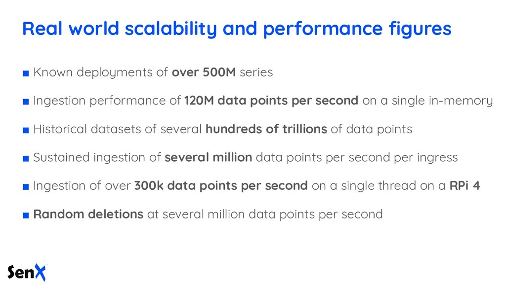 Real world scalability and performance figures ■...