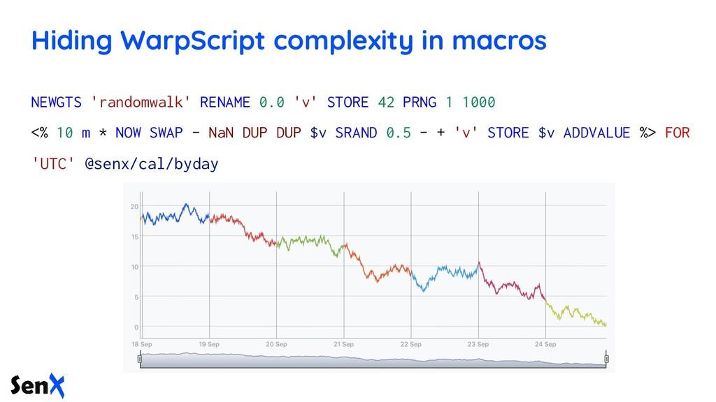 Hiding WarpScript complexity in macros NEWGTS '...