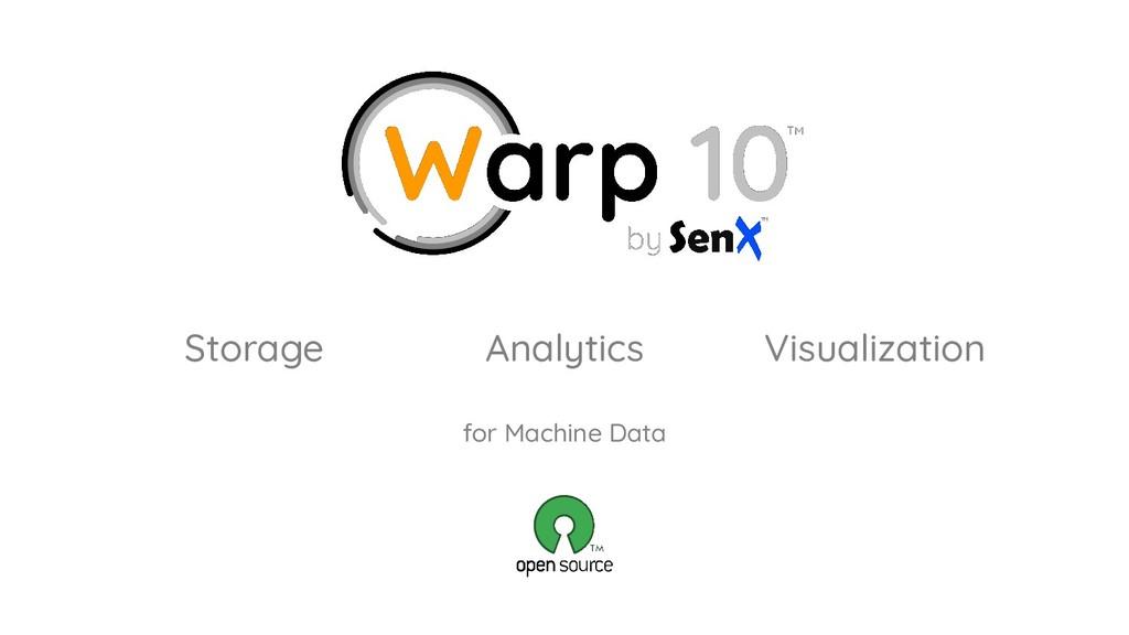 for Machine Data Storage Analytics Visualization