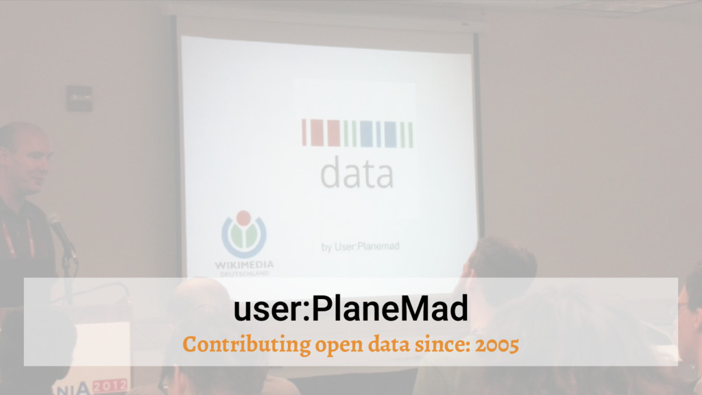 Contributing open data since: 2005