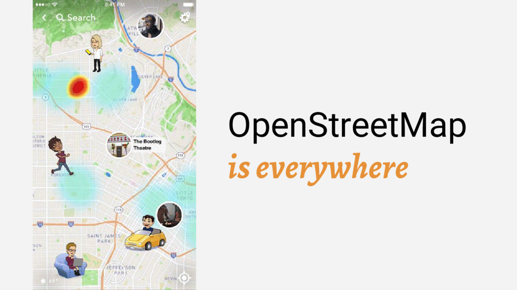 OpenStreetMap is everywhere