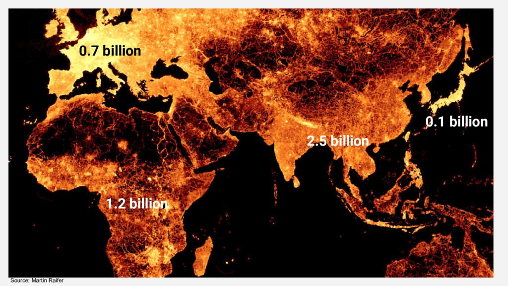 Source: Martin Raifer 2.5 billion 1.2 billion 0...