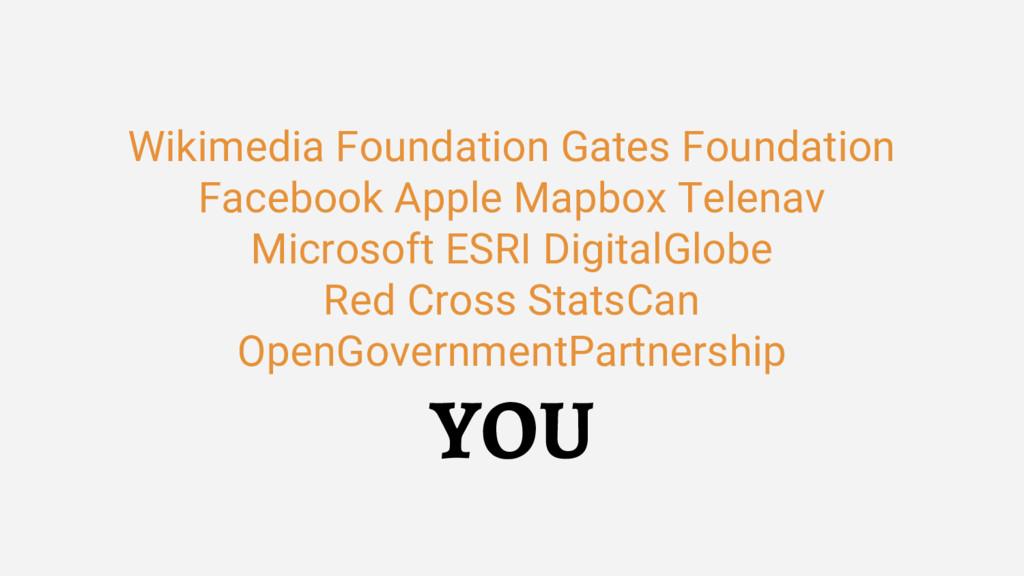 Wikimedia Foundation Gates Foundation Facebook ...