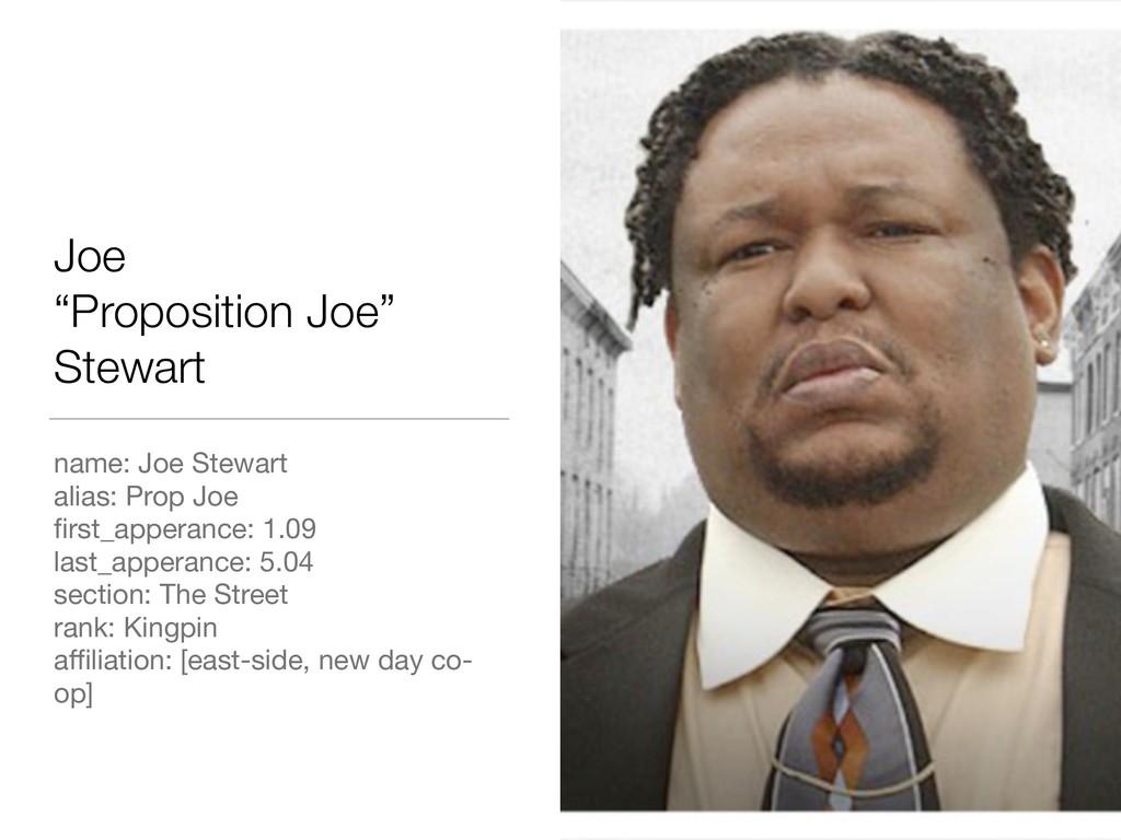 "Joe ""Proposition Joe"" Stewart name: Joe Stewar..."
