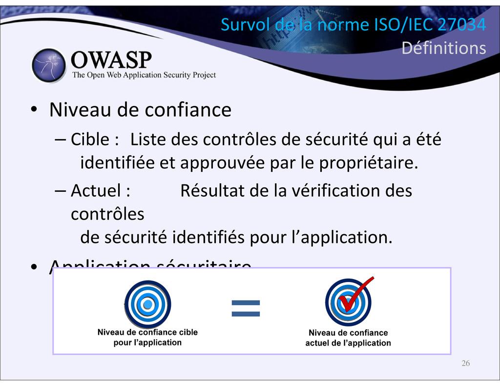 Survol de la norme ISO/IEC 27034 Définitions • ...