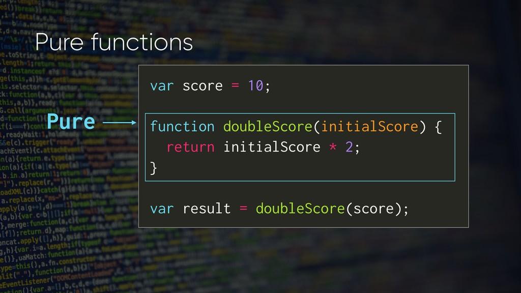 var score = 10; function doubleScore(initialSco...