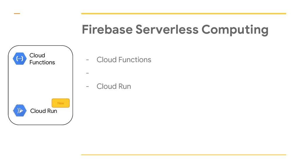 Firebase Serverless Computing - Cloud Functions...