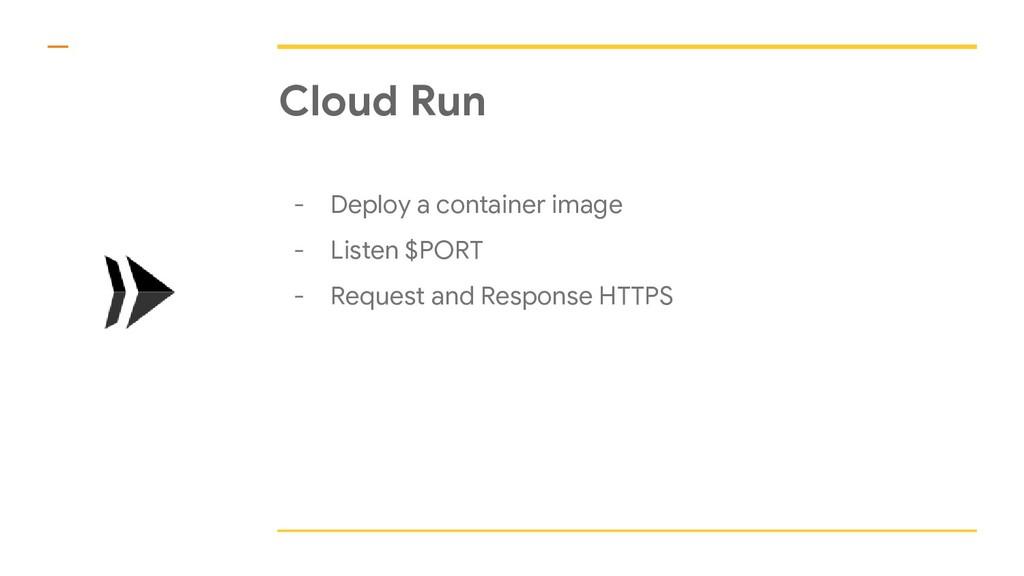 Cloud Run - Deploy a container image - Listen $...