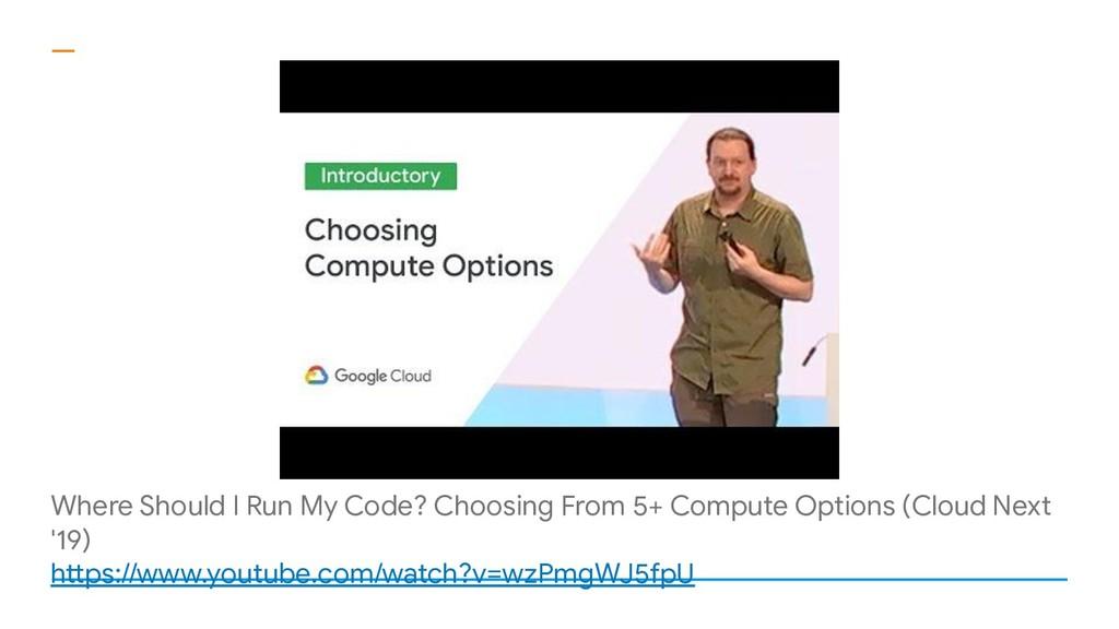Where Should I Run My Code? Choosing From 5+ Co...
