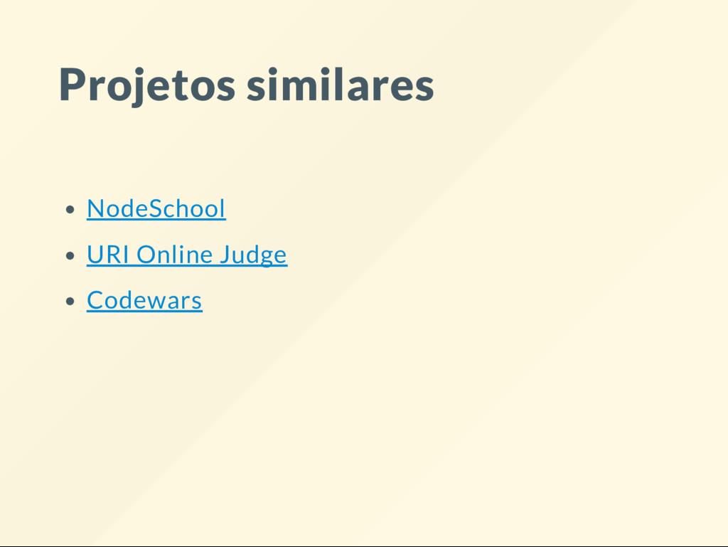 Projetos similares NodeSchool URI Online Judge ...
