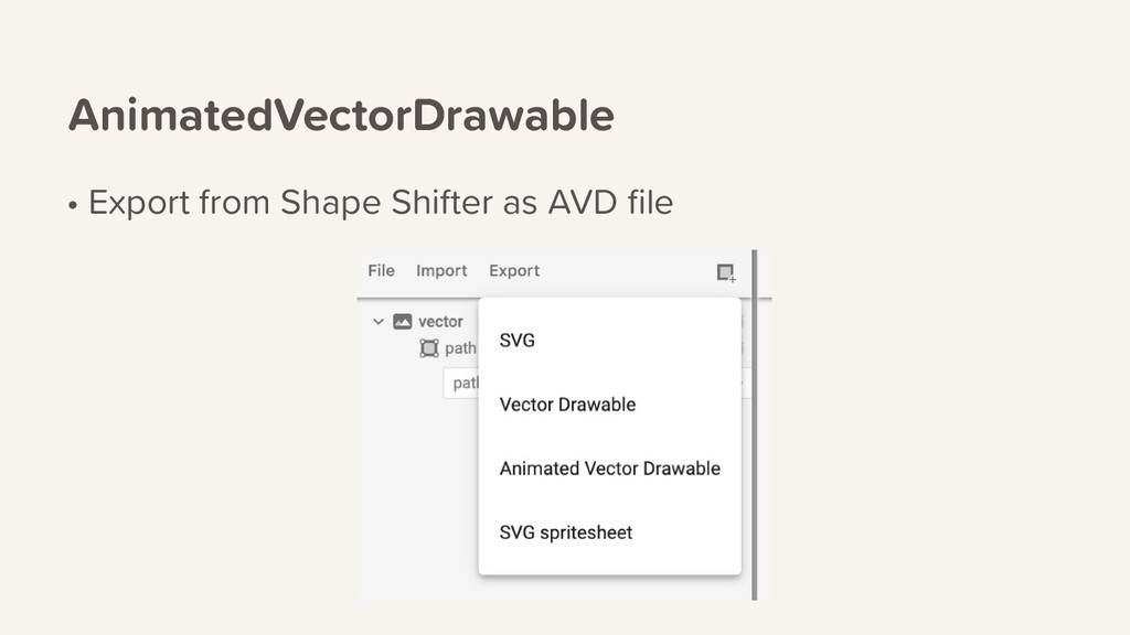 AnimatedVectorDrawable • Export from Shape Shif...