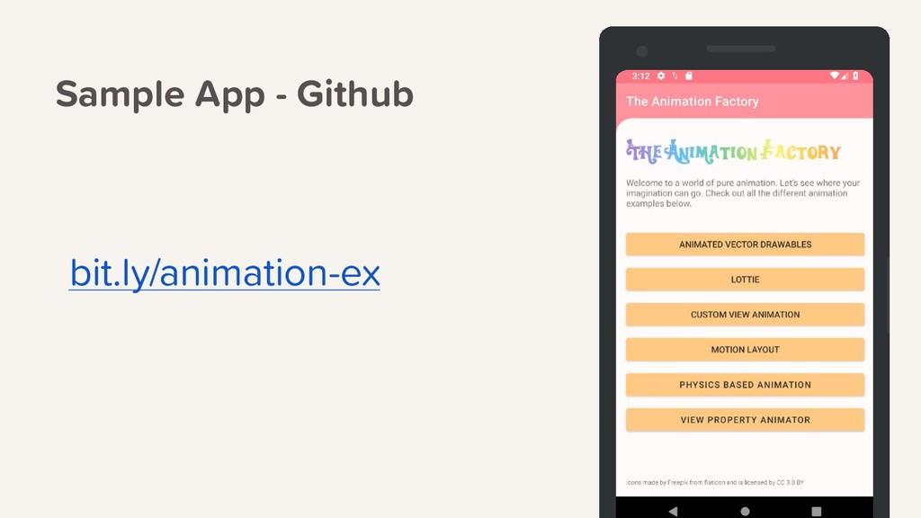 Sample App - Github bit.ly/animation-ex