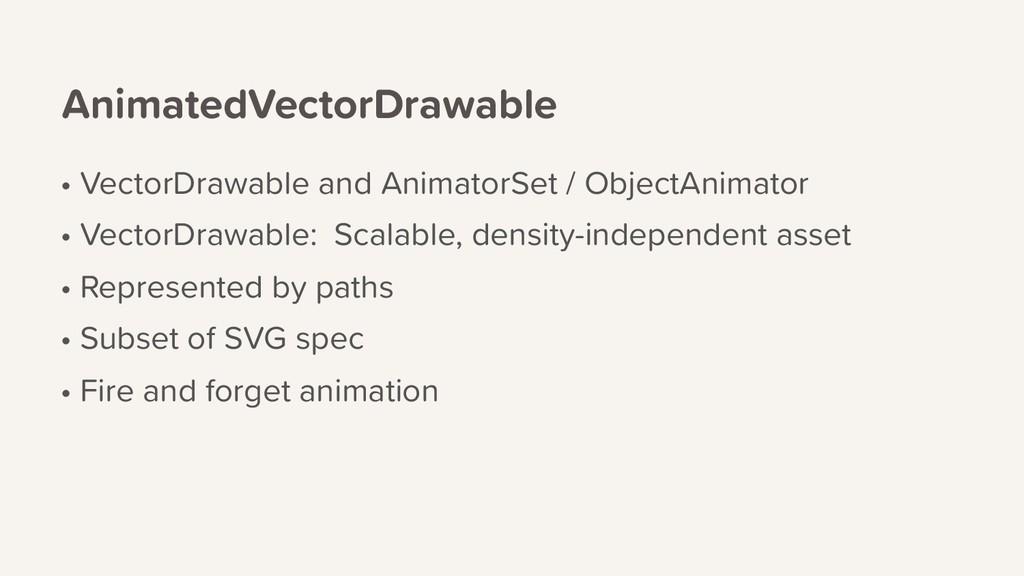 AnimatedVectorDrawable • VectorDrawable and Ani...