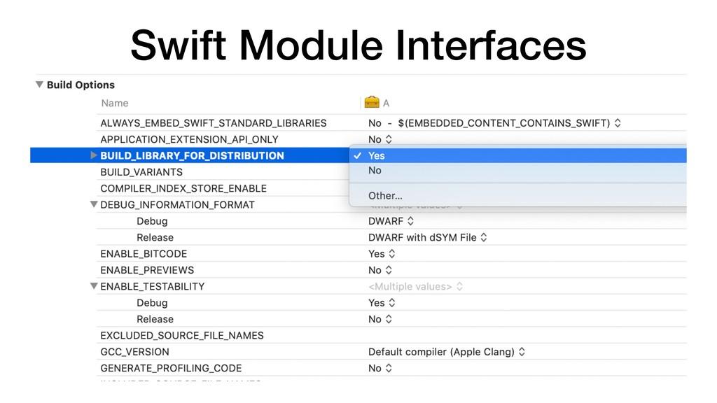 Swift Module Interfaces